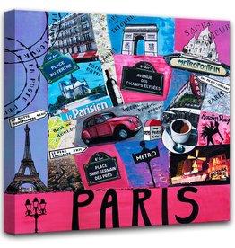 Print op canvas schilderij France