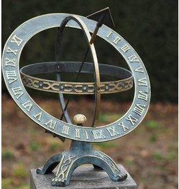 Plaatzonnewijzer brons