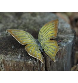 Bronzen gele vlinder