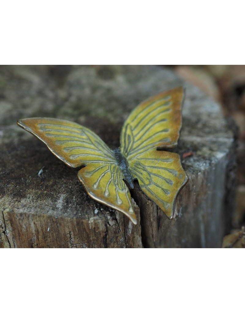 Bronze gelber Schmetterling