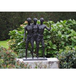 Bronzeskulptur von drei Männern
