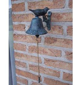 Bronze Glocke mit Vögeln