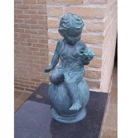 Bronze Junge mit Schale