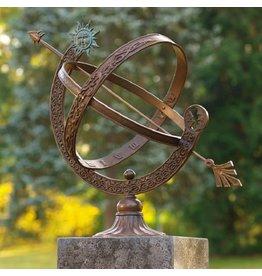 Zonnewijzer brons/messing 48cm