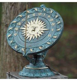 Plaatzonnewijzer brons zon