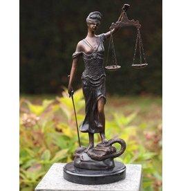 Kleine Frau Justitia Bronze