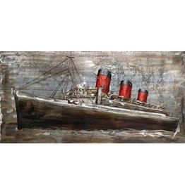3D schilderij 70x140cm Stoomboot