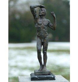 Brons naakte man van Rodin 45cm