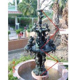 Bronzen fontein met engeltjes