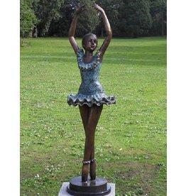 Ballerina Arme hoch Bronze