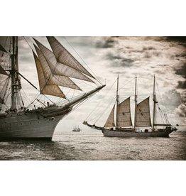 Glas-schilderij 80x120cm Sailers