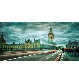 Eliassen Foto op glasschilderij 80x160cm Londen