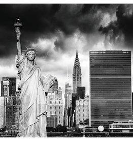 Eliassen Foto auf Glasmalerei 100x100cm Lady Liberty