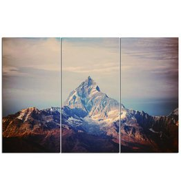 3luikschilderij glas XXL Berg