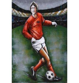 Malerei Metall 3d 80x120cm Fußball
