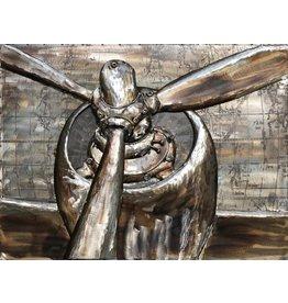 Schilderij 3d metaal 60x80cm Propellers