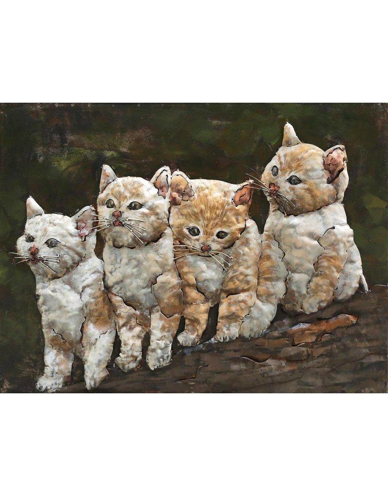 3D-Malerei 60x80cm Katzen