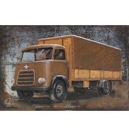Schilderij metaal 80x120cm DAF