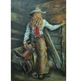 3d schilderij 80x120cm Cowgirl