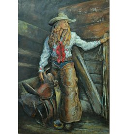 3d painting 80x120cm Cowgirl