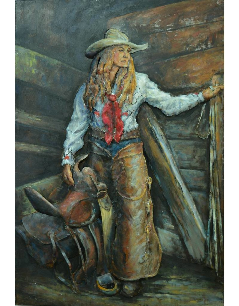 3D-Malerei 80x120cm Cowgirl