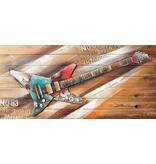 3d Malerei Holz 64x130cm Felsen