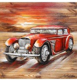 Schilderij 3d hout 91x91cm Limo