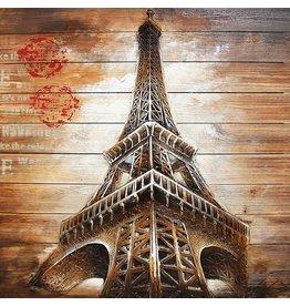 Eliassen Malerei Holz 3d 91x91cm Eiffel