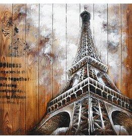 Eliassen Malerei Holz 3d 91x91cm Eiffel1