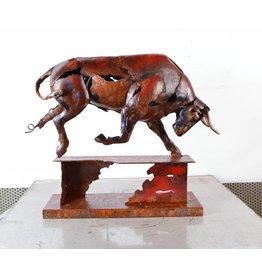 Bild Metall Bull zu Fuß