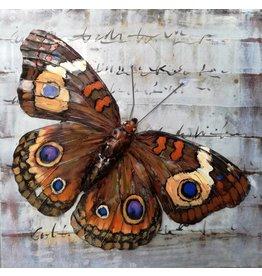 Malerei Metall 3d 80x80cm Schmetterling