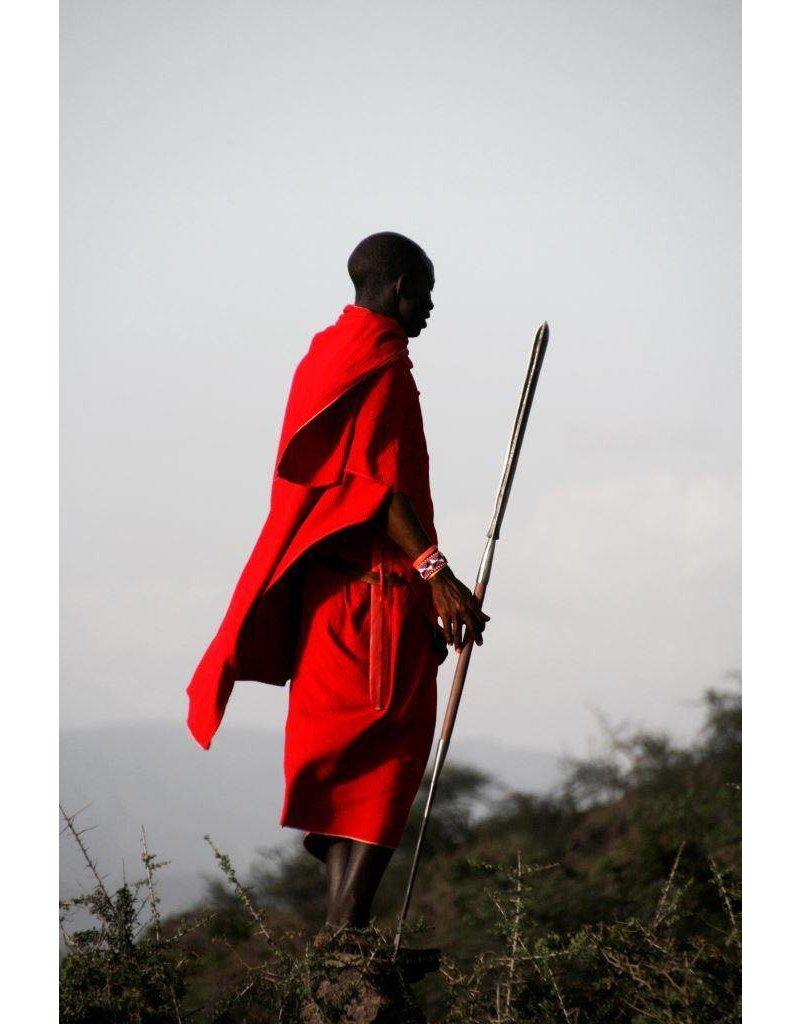 Foto op glas schilderij 80x120cm Ethiopiër