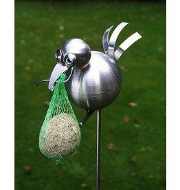 Tuinsteker RVS Vogel met haak