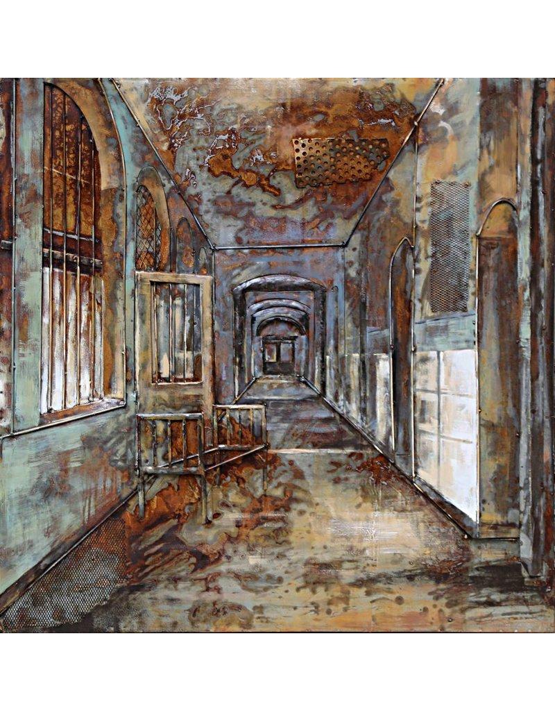 3D-Malerei Eisen 100x100cm Kloster