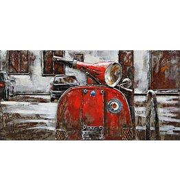 Eliassen Schilderij 3d ijzer 40x80cm Vespa 1