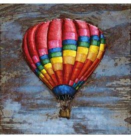 Schilderij 3d ijzer 80x80cm Ballon