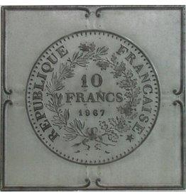 3D schilderij 71x71cm Franse franc
