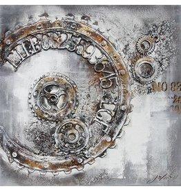 Eliassen 3D Gemälde Leinwand 100x100cm Zeit