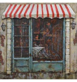 Malerei Eisen 60x60cm Cafe