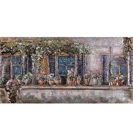 Schilderij ijzer 3D 60x150cm Balkon