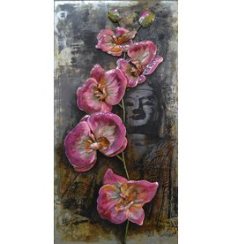 Mtaal painting 3D 60x120cm Flowers