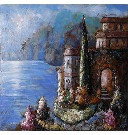 Metalen schilderij 3d 100x100cm Palermo