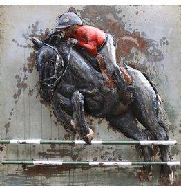 Schilderij metaal 3d 100x100cm Barrage
