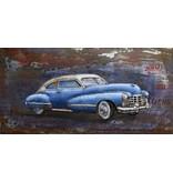 Schilderij 3d metaal 60x120cm Slee