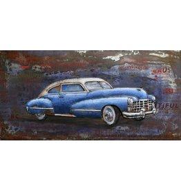 Eliassen Schilderij 3d metaal 60x120cm Slee