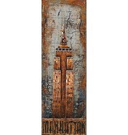 Schilderij metaal 3d 50x150cm NYT