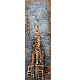 Eliassen Malerei 3d Metall 50x150cm Chrysler Tower