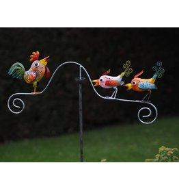 Eliassen Tumbler Metall Huhn mit Vögeln