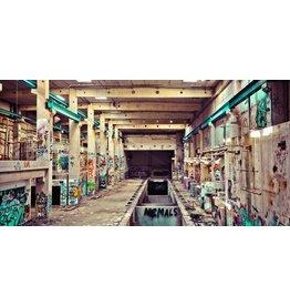 Dibond Malerei 98x49cm Industrie