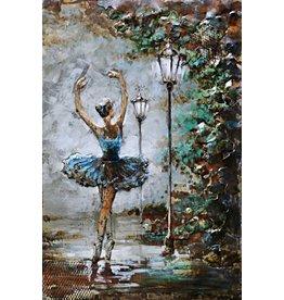 3d Metallanstrich 80x120cm Ballerina